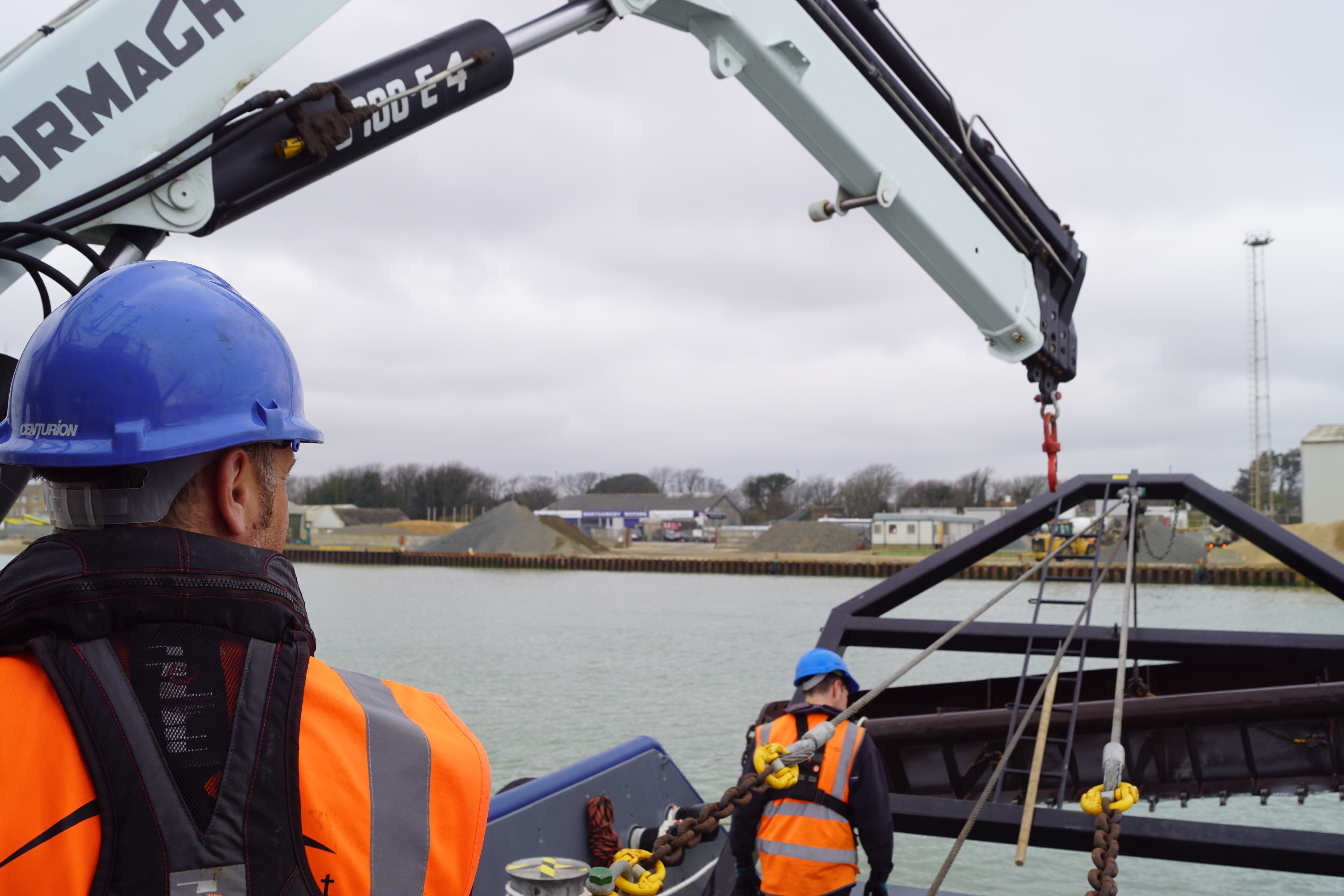 Port Spot Dolphins While Completing Newhaven Seabed Levelling